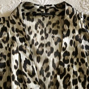 TAHARI Animal Print Blouse